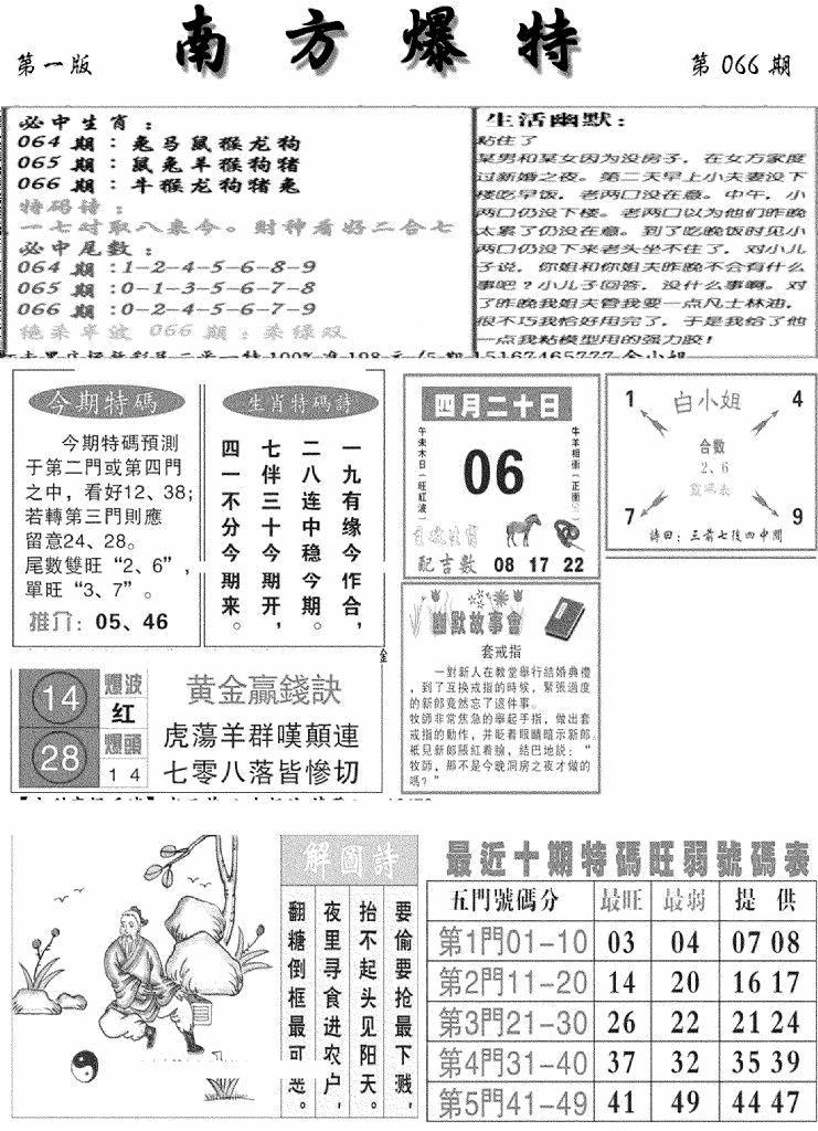 066期南方爆特A(黑白)