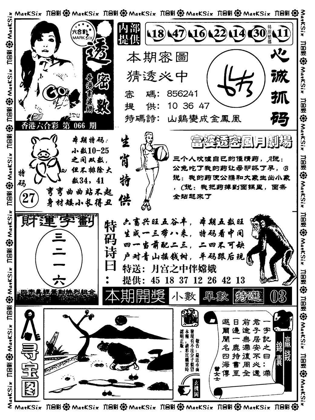 066期富婆透密数(黑白)