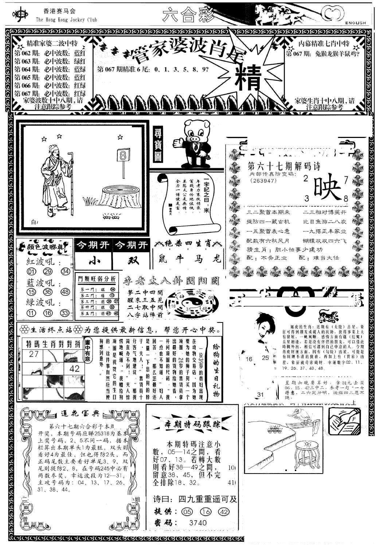 067期管家婆-波肖尾版(热)(黑白)
