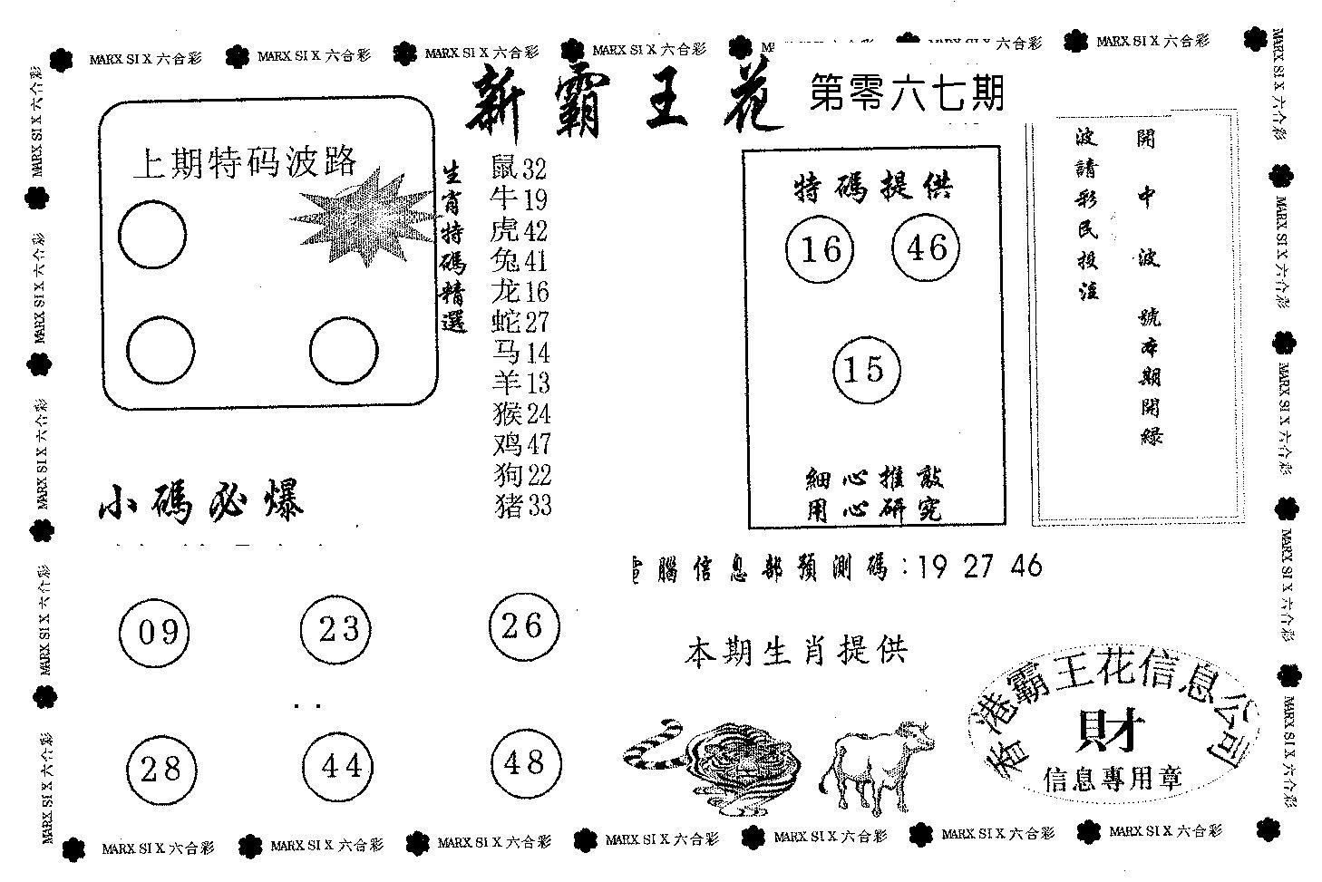 067期新霸王花(黑白)