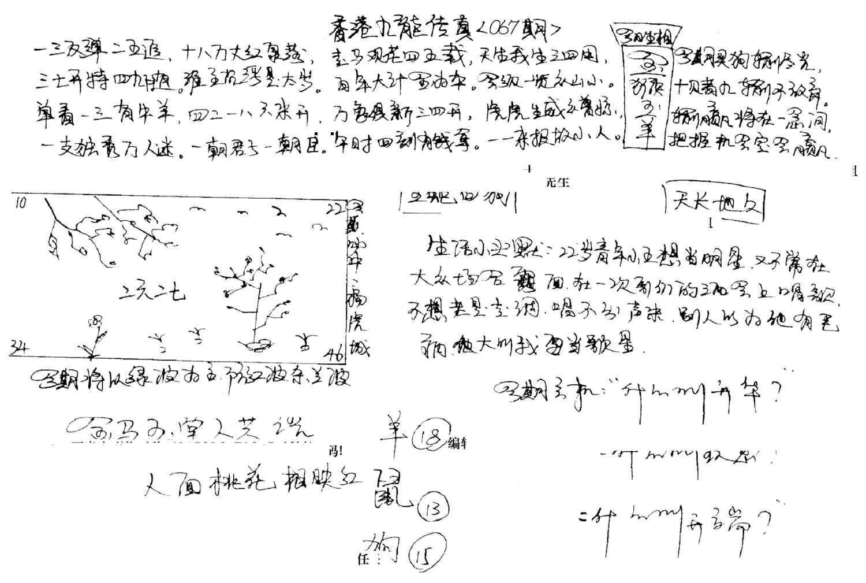 067期手写九龙内幕A(黑白)
