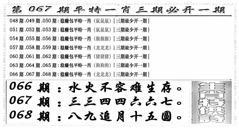 067期玄机特码(黑白)