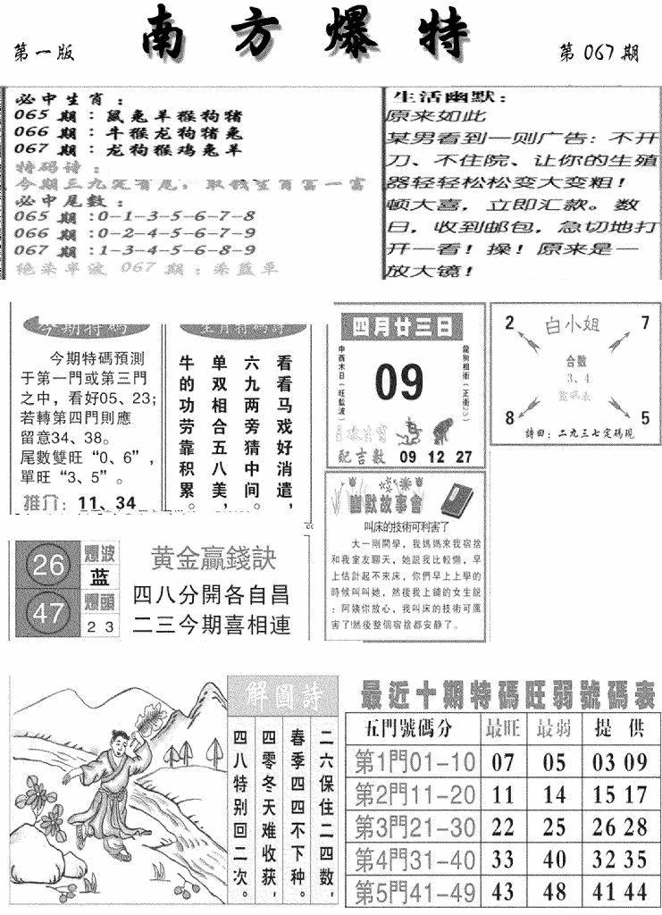 067期南方爆特A(黑白)