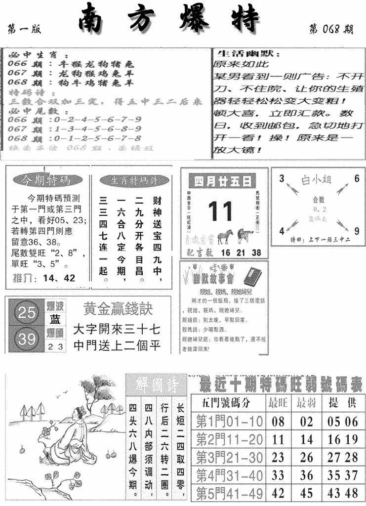 068期南方爆特A(黑白)