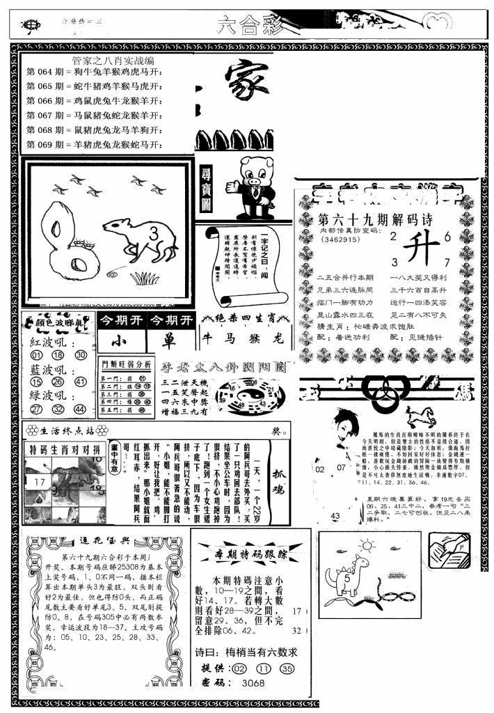 069期管家婆--八肖版(黑白)