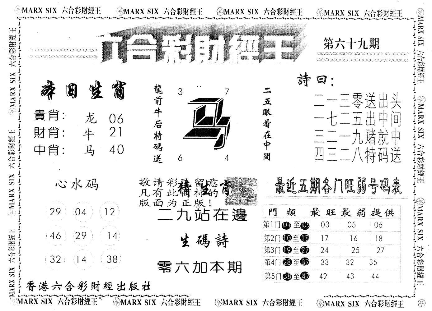 069期另版财经王一(黑白)