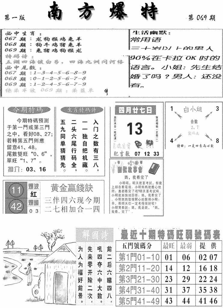069期南方爆特A(黑白)