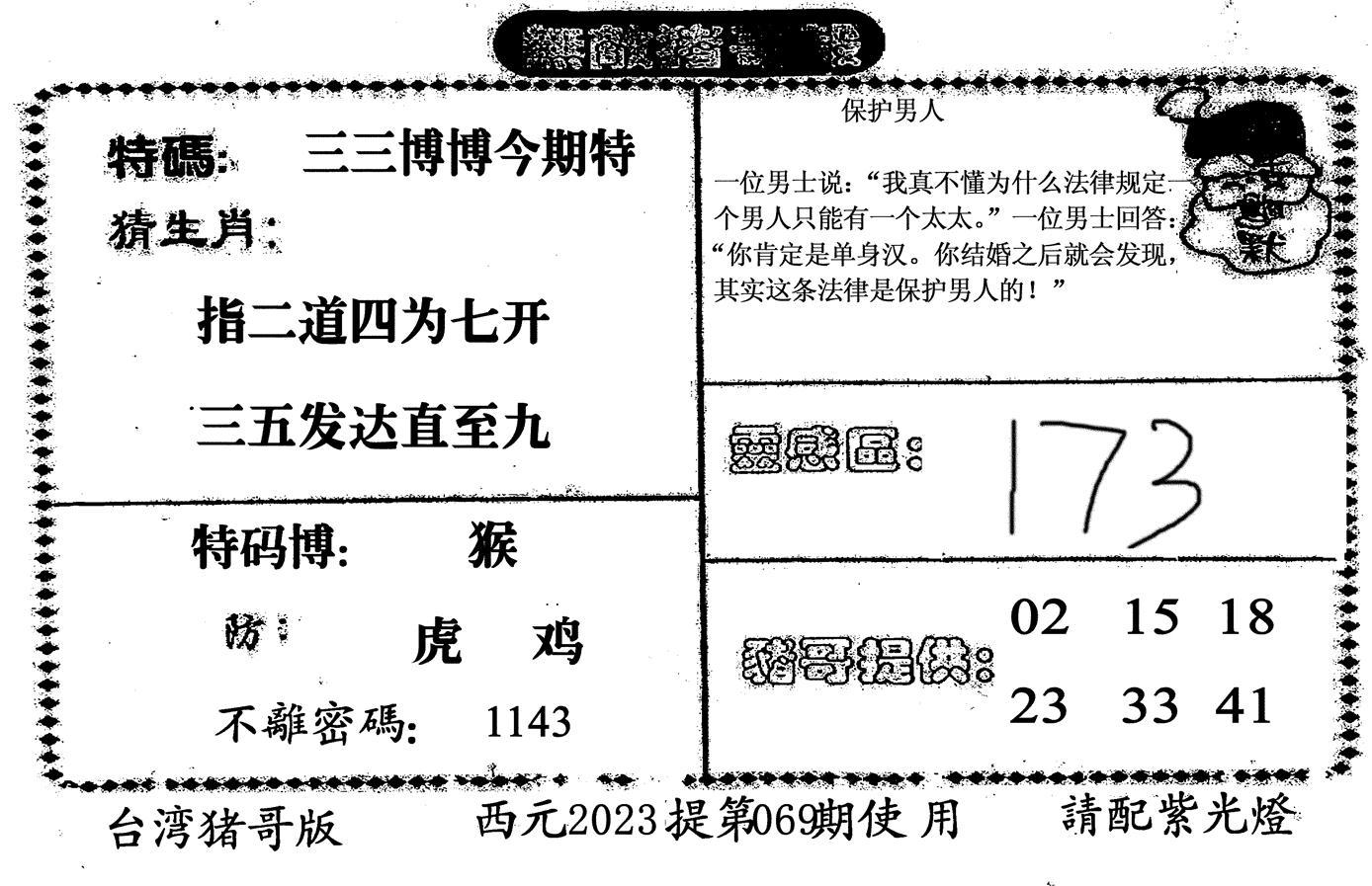 070期无敌猪哥-2(黑白)
