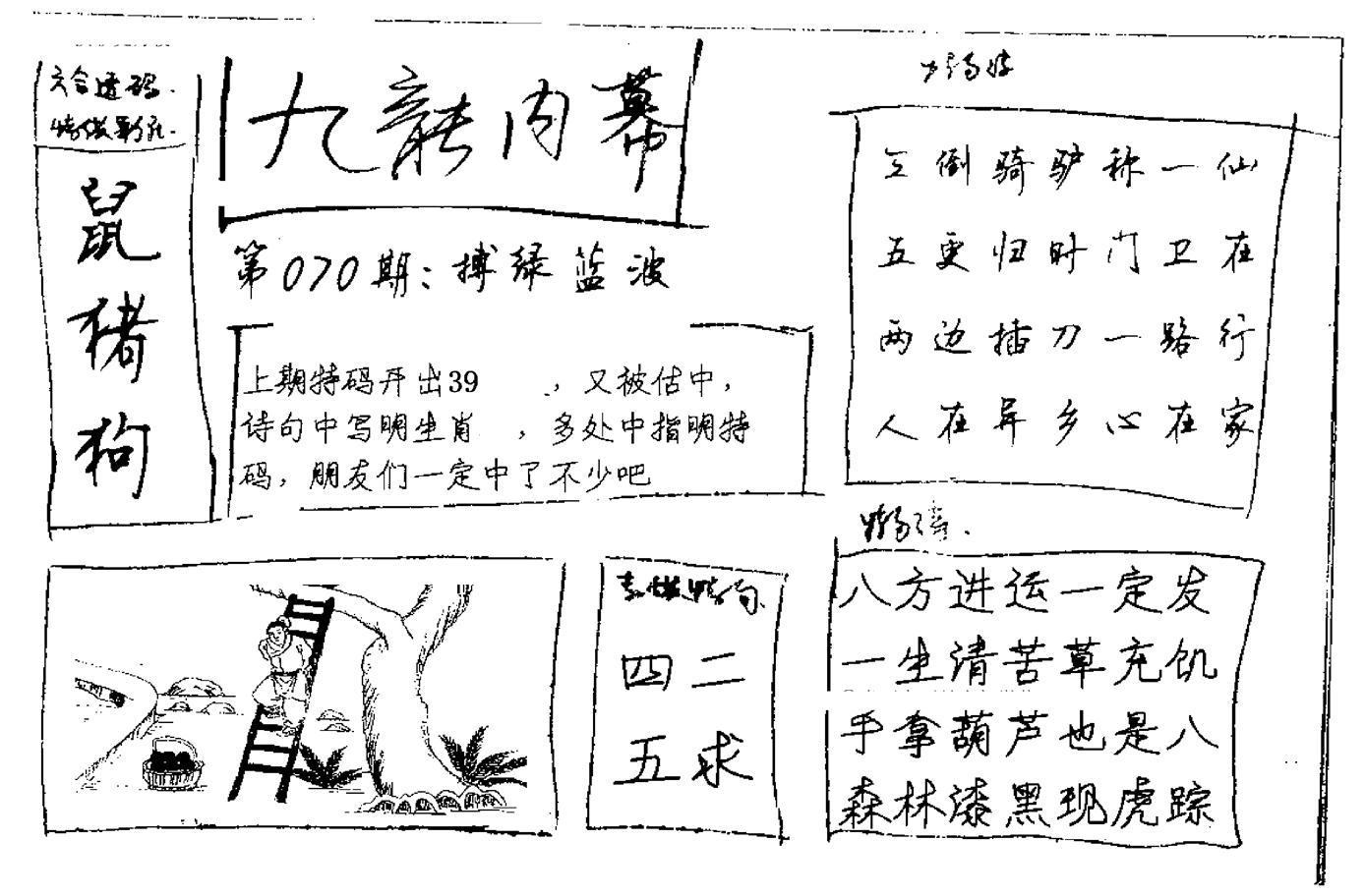 070期九龙内幕手写(黑白)