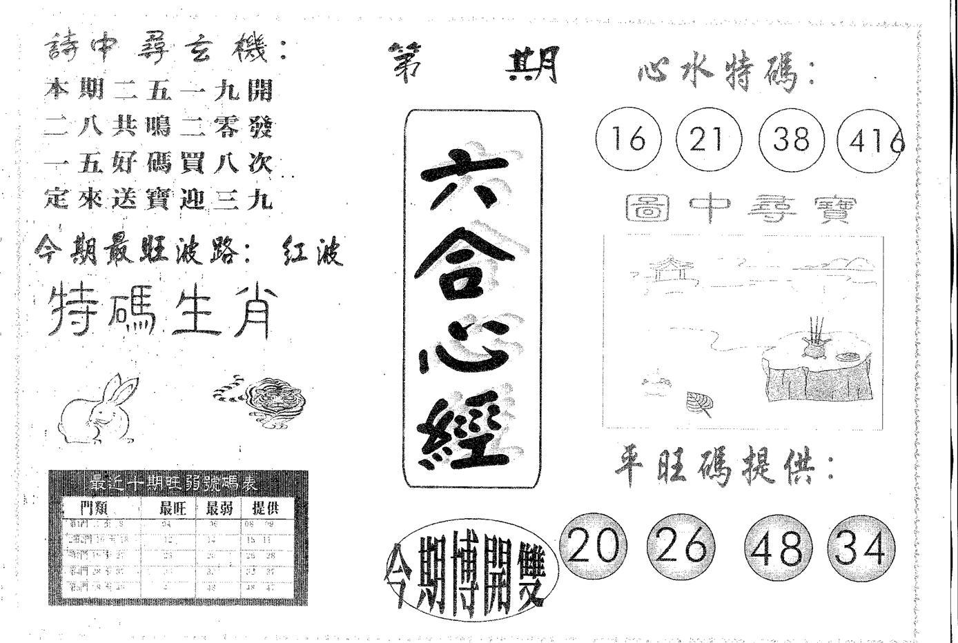 070期六合心经(黑白)