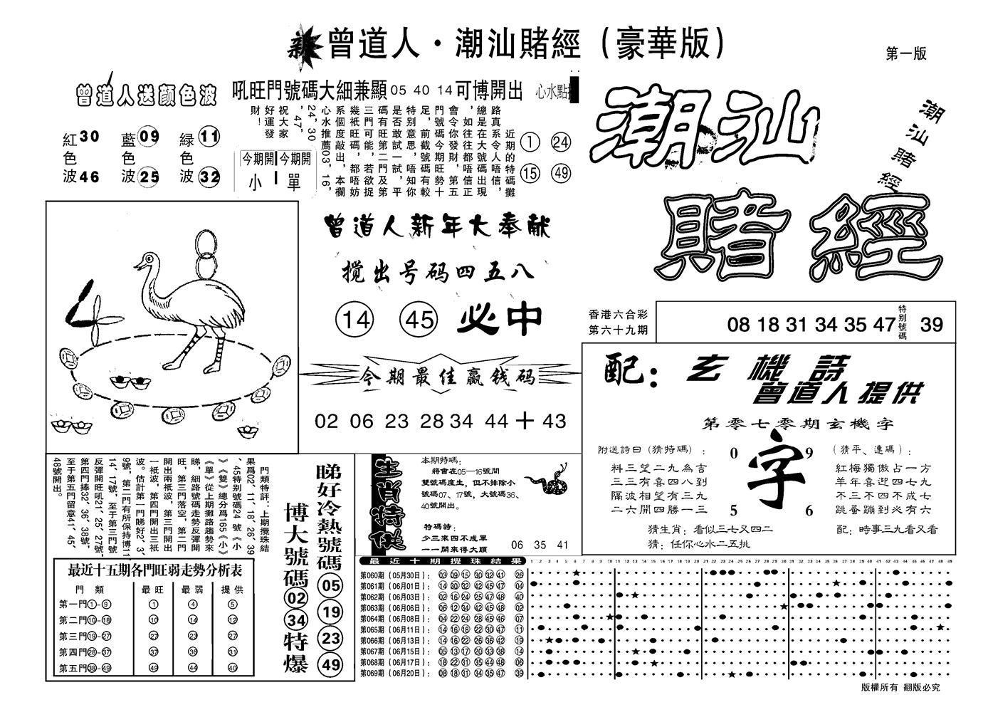 070期另潮汕赌经濠华版A(黑白)
