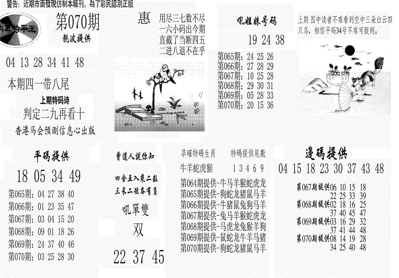 070期内幕特平王(黑白)