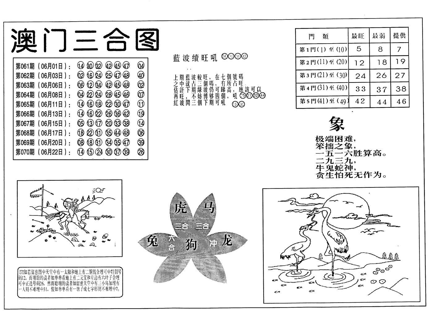 071期老潮汕台湾神算(黑白)