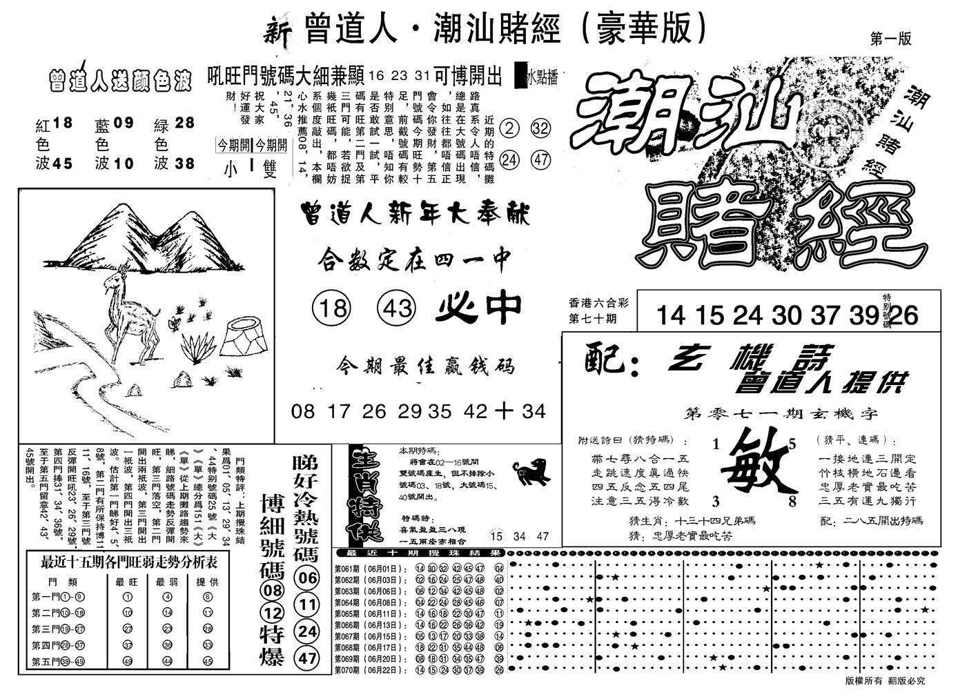 071期另潮汕赌经濠华版A(黑白)