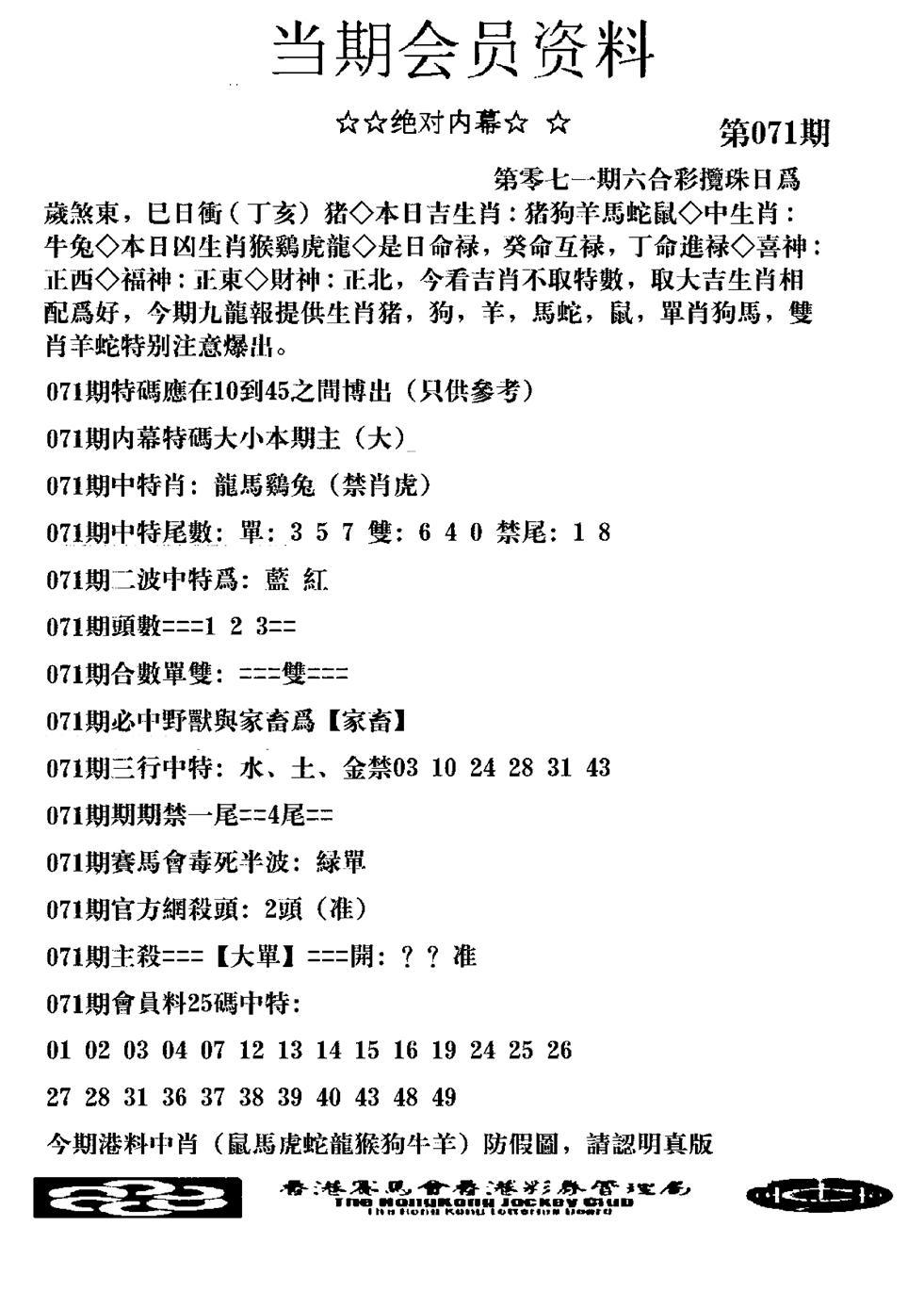 071期当期会员资料图(黑白)