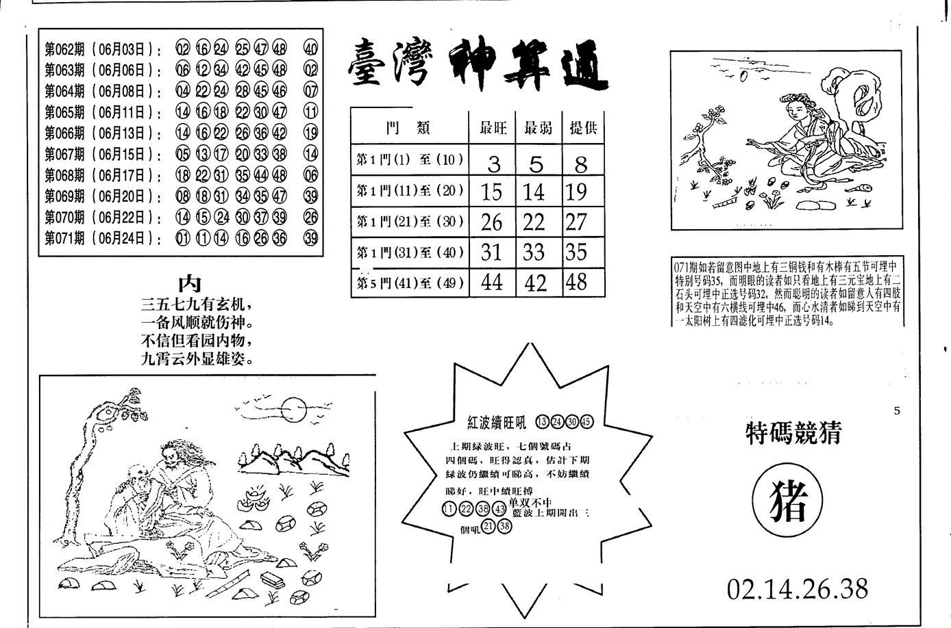 072期老潮汕台湾神算(黑白)
