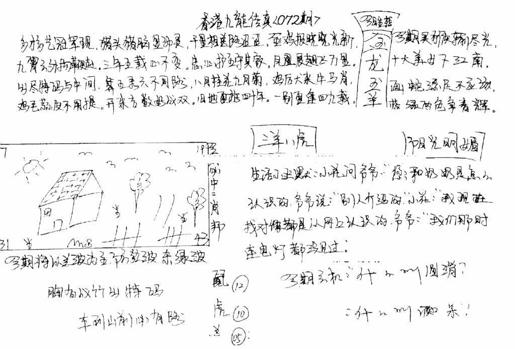 072期手写九龙内幕B(黑白)