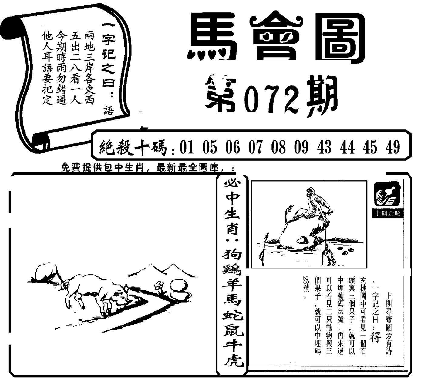 072期马会图(新)