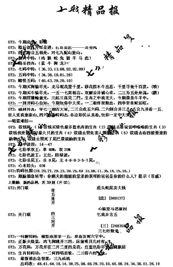 072期七彩精品报(黑白)