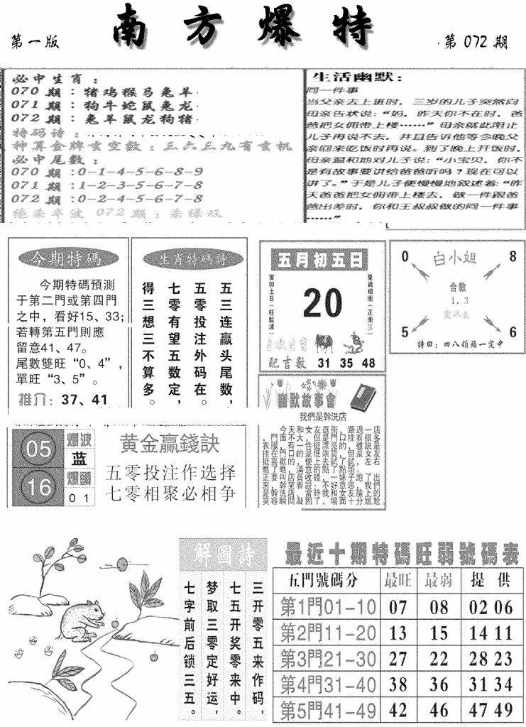 072期南方爆特A(黑白)
