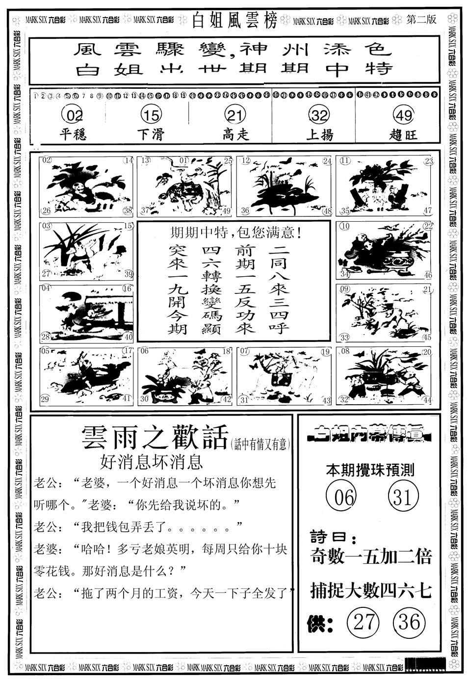 073期白姐风云榜B(黑白)