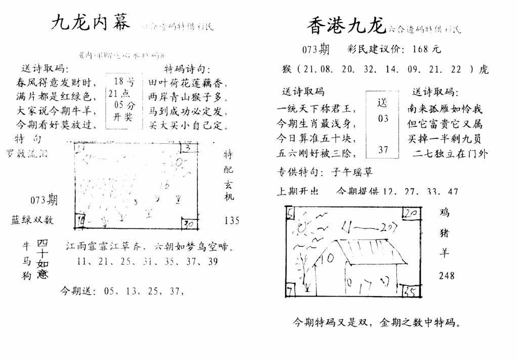 073期手写九龙内幕(黑白)