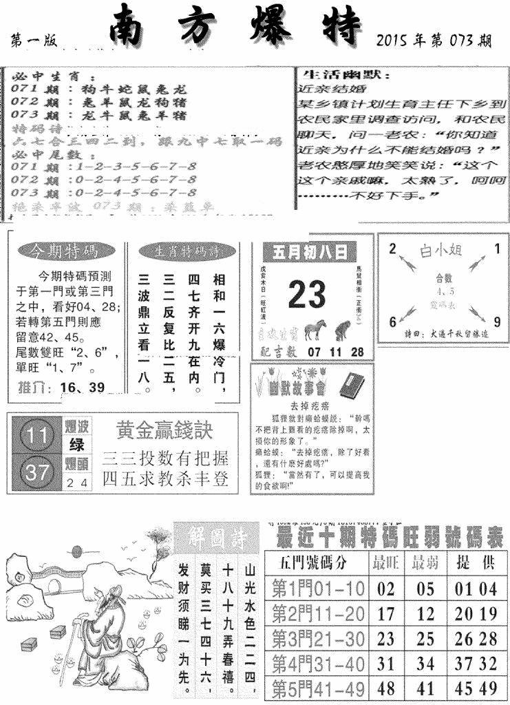 073期南方爆特A(黑白)