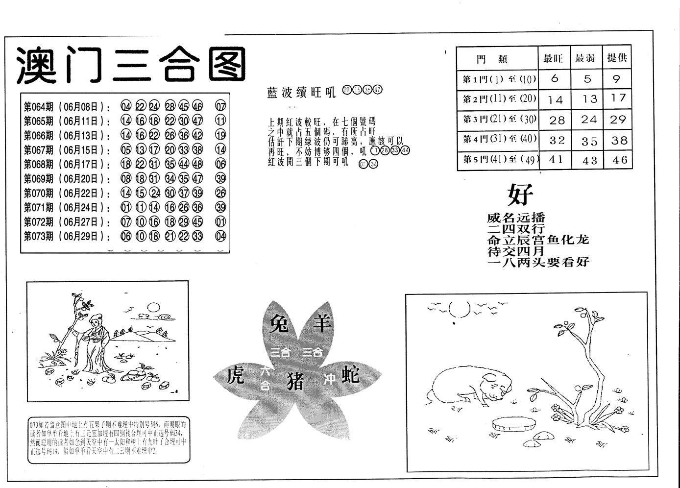074期老潮汕台湾神算(黑白)