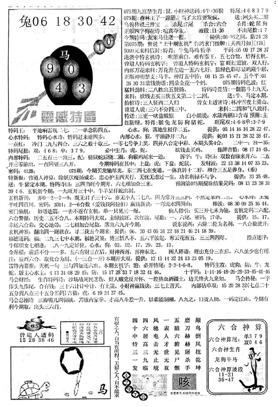 075期平西版彩霸王B(黑白)