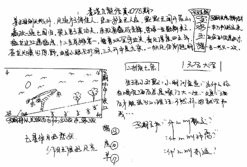 075期手写九龙内幕B(黑白)
