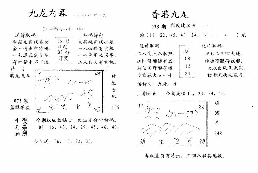 075期手写九龙内幕(黑白)