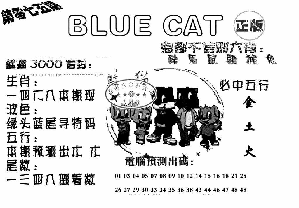 075期蓝猫BlueCat(黑白)