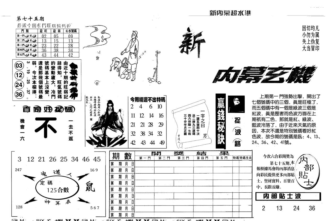 075期另版新内幕A(黑白)