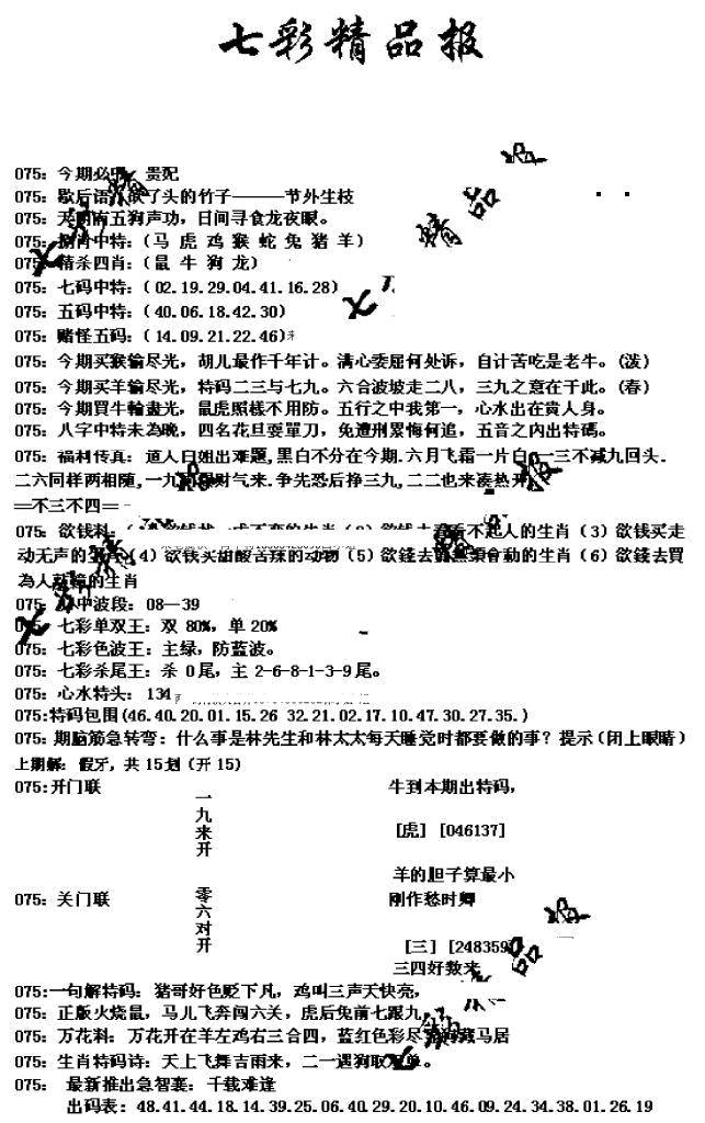 075期七彩精品报(黑白)