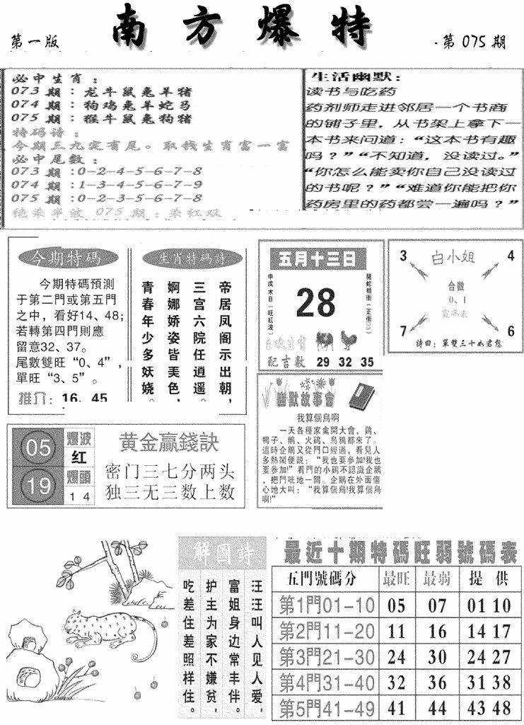 075期南方爆特A(黑白)
