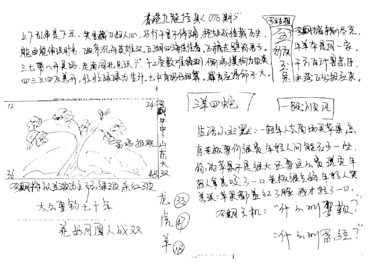076期手写九龙内幕A(黑白)