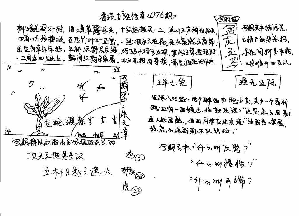 076期手写九龙内幕(早图)(黑白)