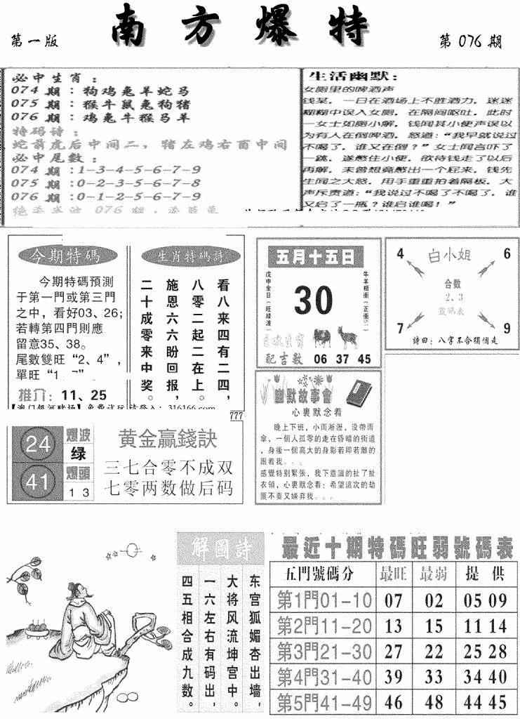 076期南方爆特A(黑白)