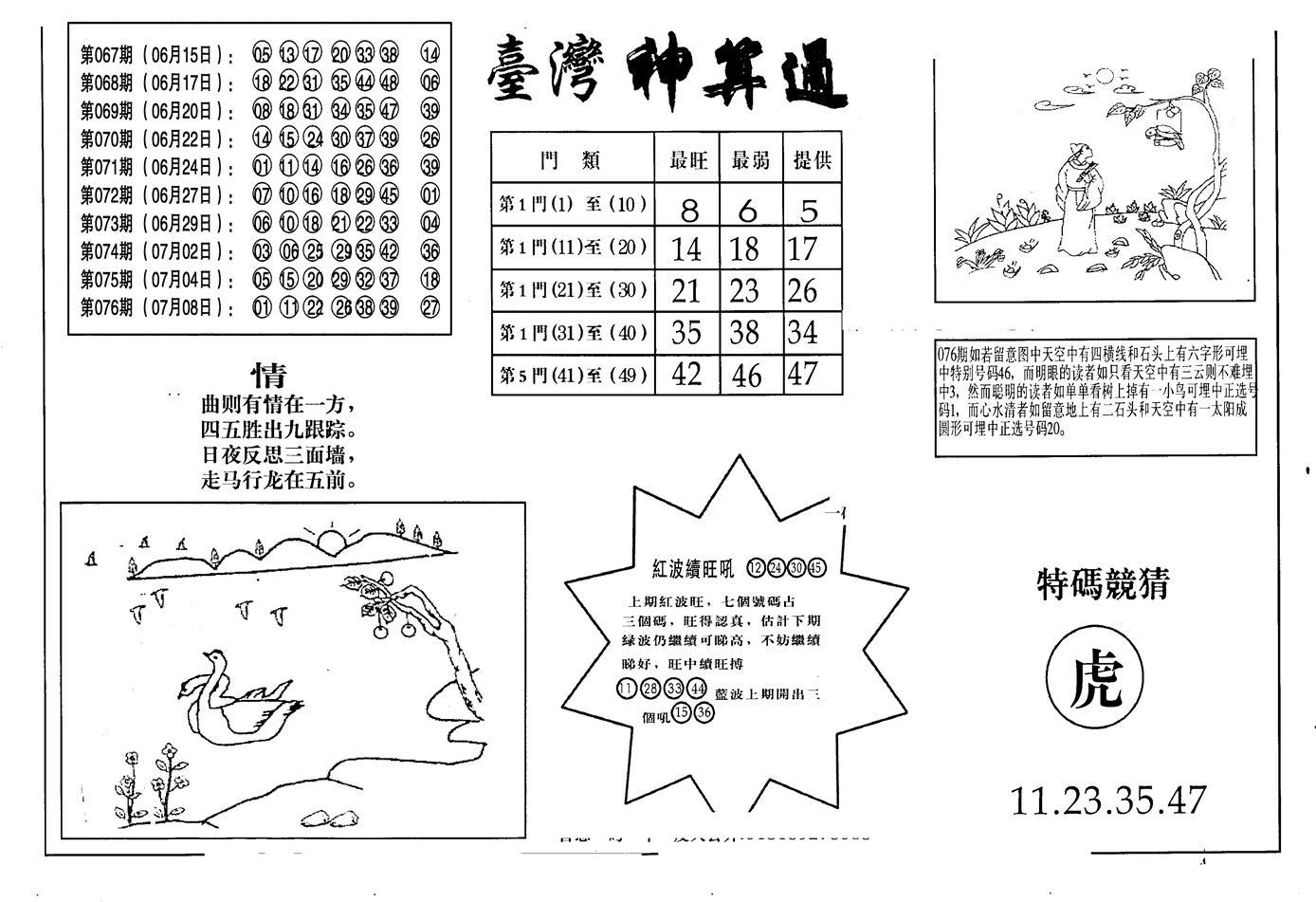 077期老潮汕台湾神算(黑白)