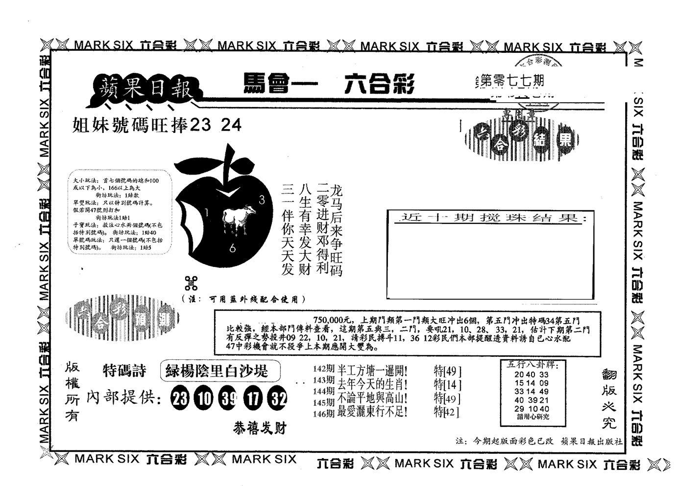 077期苹果日报A(黑白)