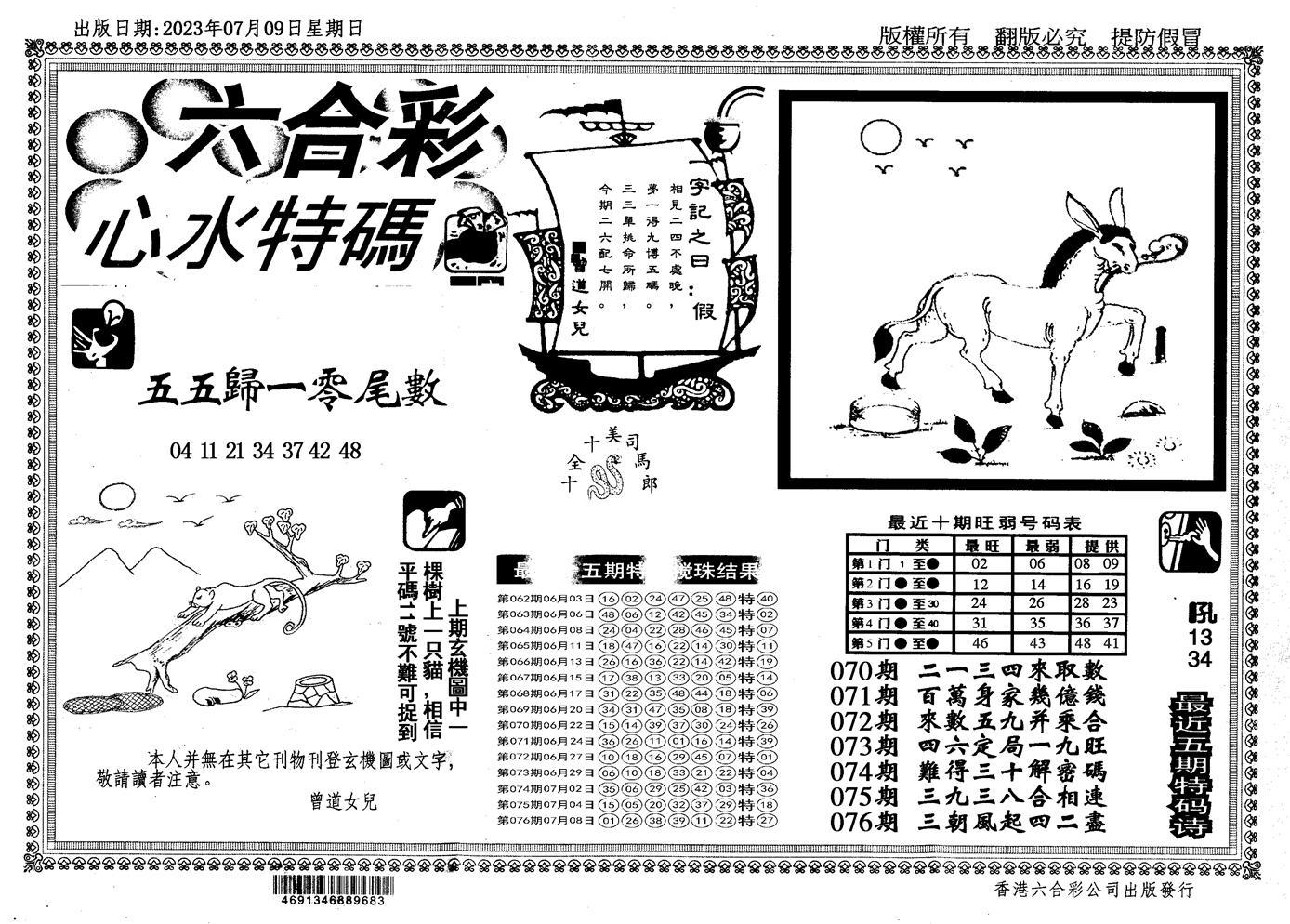 077期新特码心水(黑白)