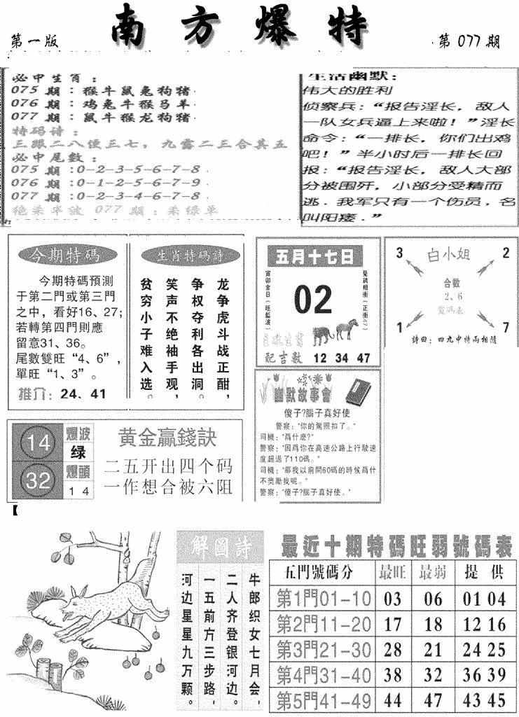 077期南方爆特A(黑白)