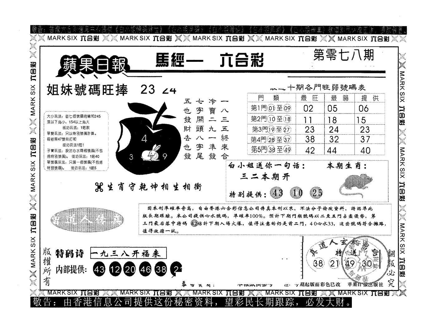 078期苹果日报A(黑白)