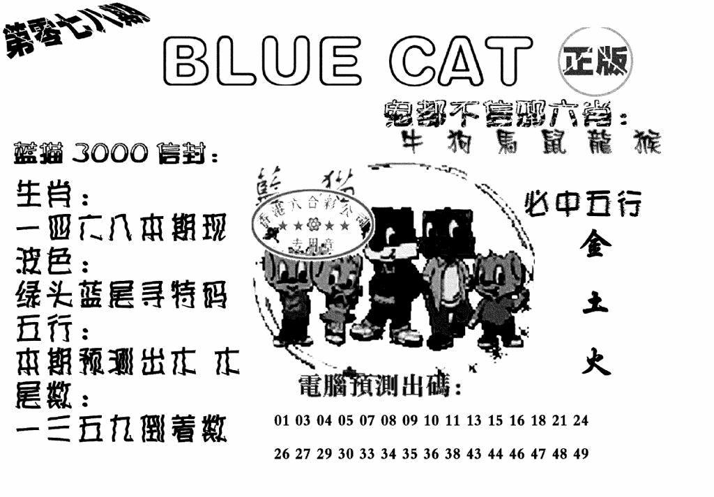 078期蓝猫BlueCat(黑白)