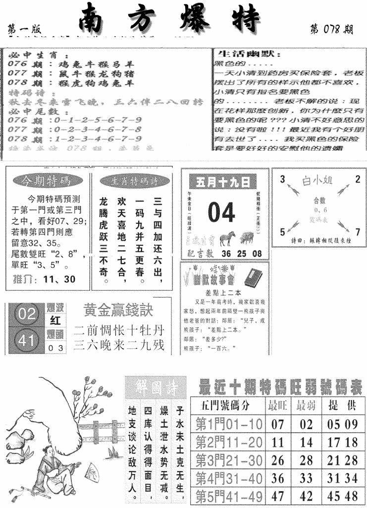 078期南方爆特A(黑白)