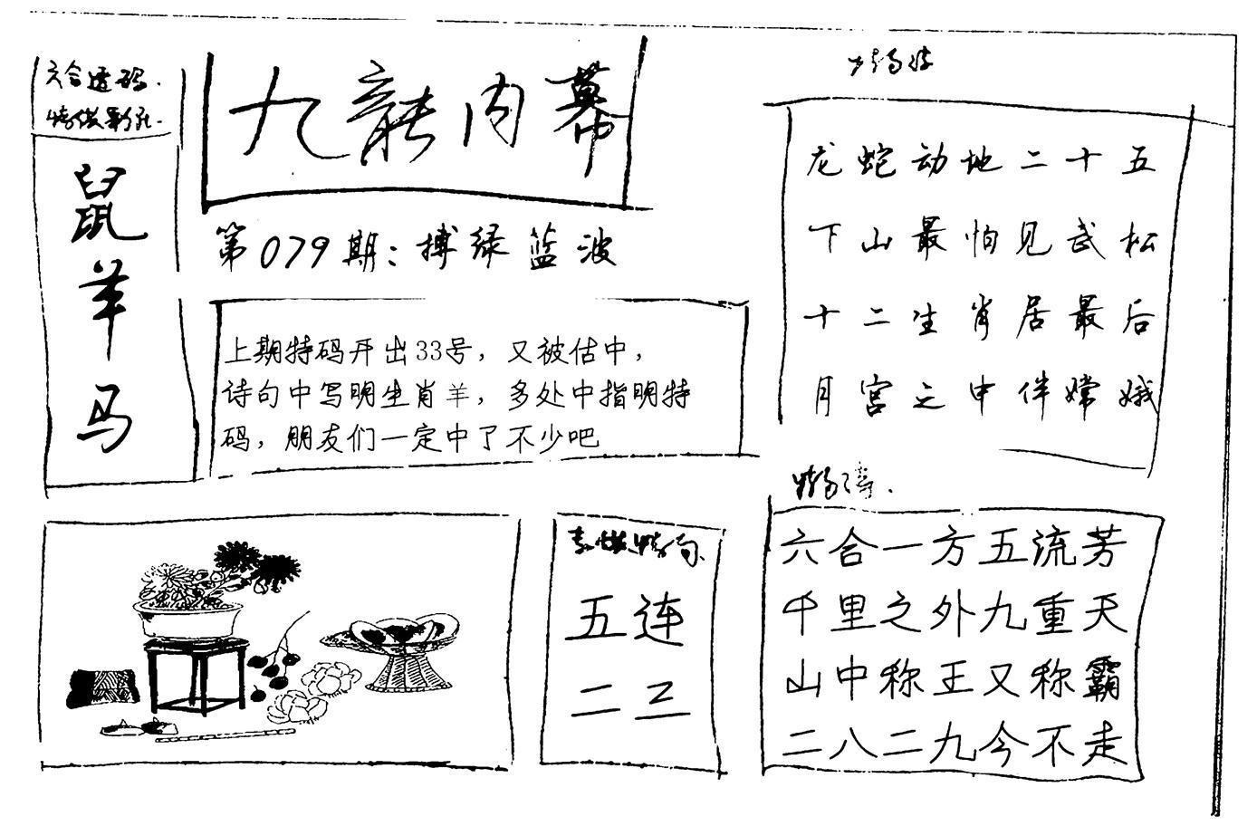 079期九龙内幕手写(黑白)