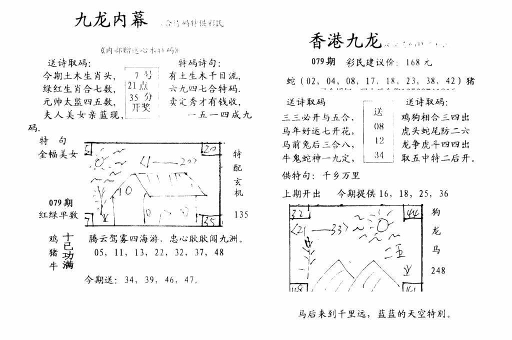 079期九龙内幕--开奖报(黑白)