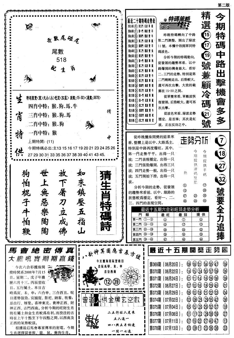 079期另内幕消息B(黑白)