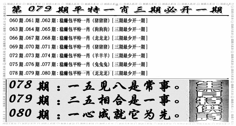 079期玄机特码(黑白)