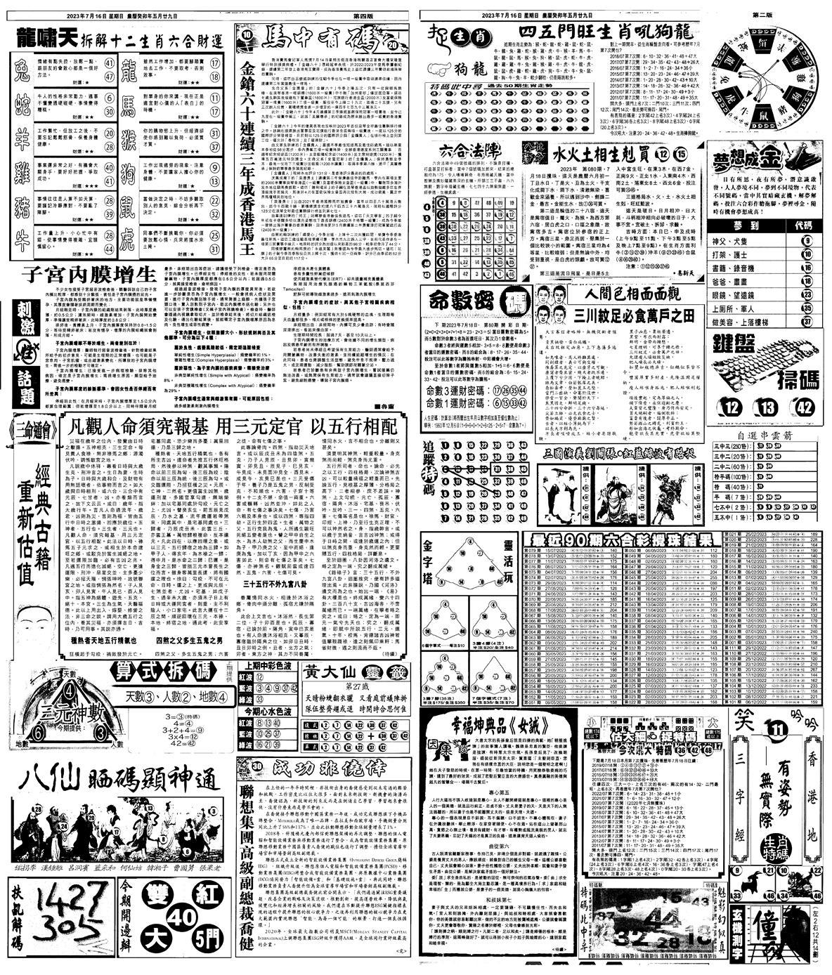 080期新报跑狗B(背面)(黑白)
